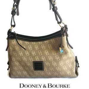 Like New Signature Dooney & Bourke Shoulder Bag